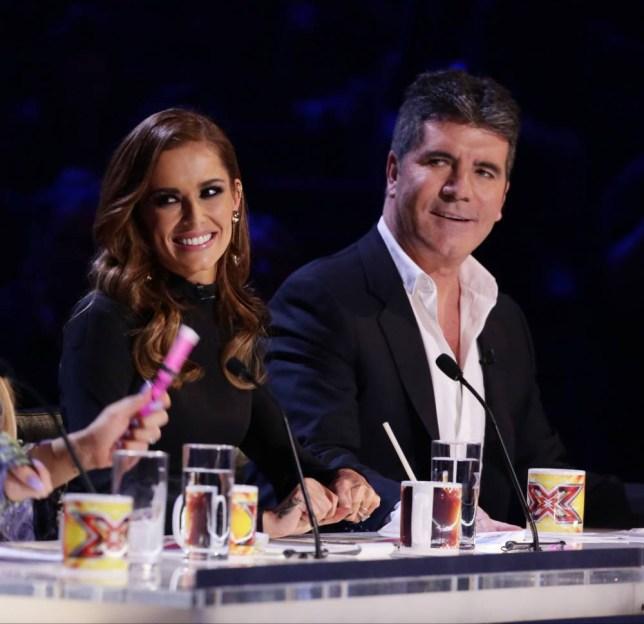 *** MANDATORY BYLINE TO READ: Syco / Thames / Corbis ***<BR /> X Factor Live Finals, London, Britain - 5 December 2015 <P> Pictured: Cheryl Fernandez Versini, Simon Cowell <B>Ref: SPL1190301 051215 </B><BR /> Picture by: Syco/Thames/Corbis/Dymond<BR /> </P><P>