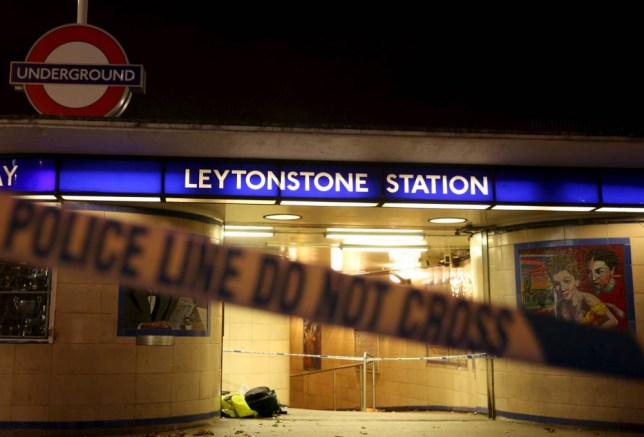 Police tape is seen at a crime scene at Leytonstone underground station in east London, Britain December 6, 2015. Police were called to reports of a number of people stabbed at the station in east London and a man threatening other people with a knife. One man was seriously injured and two sustained minor injuries, police said. REUTERS/Neil Hall