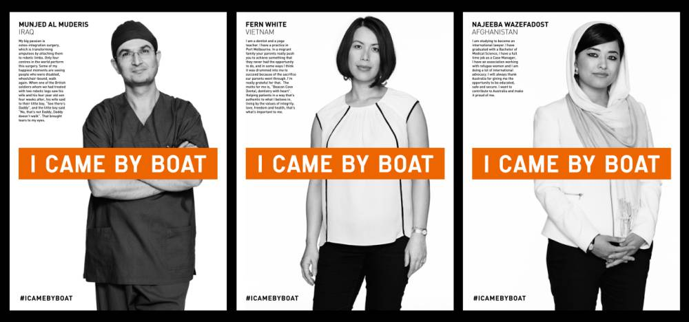 Make up artist Blanka Dudas is running an 'I came by boat' refugee campaign