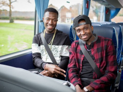 Reggie n Bollie's wives have 'spat' on The X Factor battle bus