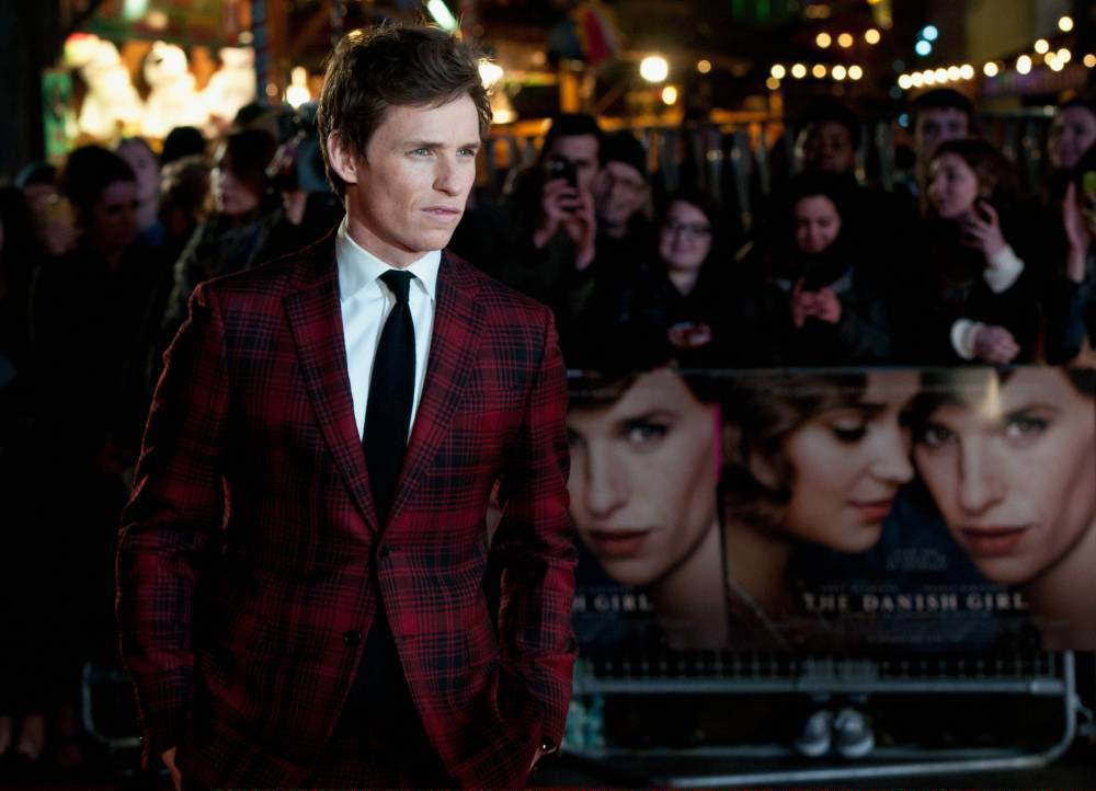 "LONDON, ENGLAND - DECEMBER 08: Eddie Redmayne attends the UK Film Premiere of ""The Danish Girl"" on December 8, 2015 in London, United Kingdom. (Photo by Eamonn M. McCormack/Getty Images)"