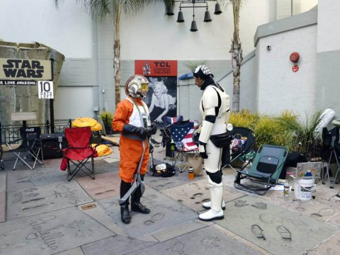 Star Wars fans are already queuing up for The Force Awakens