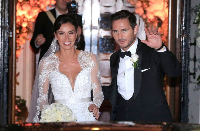 Christine Bleakley and Frank Lampard leave after their wedding at St Paul's Church in Knightsbridge, London. PRESS ASSOCIATION Photo. Picture date: Sunday December 20, 2015. See PA story SHOWBIZ Lampard. Photo credit should read: Jonathan Brady/PA Wire