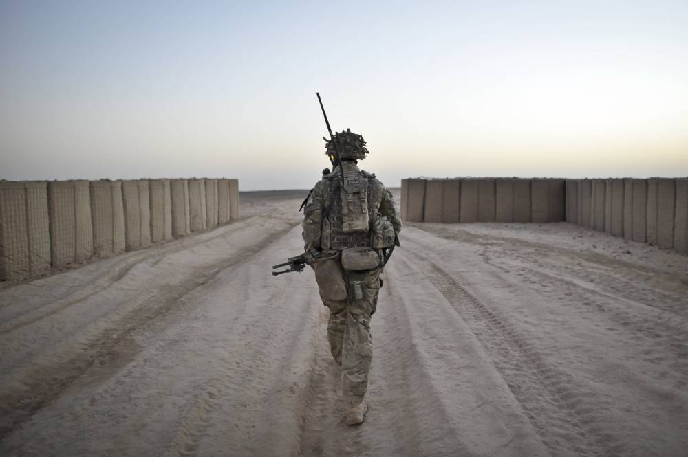 British soldiers deployed to Afghanistan in the fight against the Taliban