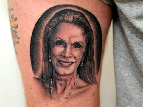 Tattoo enthusiast gets Lady Colin Campbell inking on his leg 'for a joke'