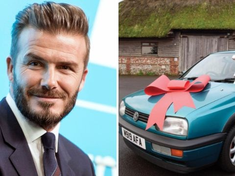 One of David Beckham's old cars is up for auction