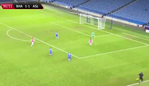 Donyell Malen scores quality solo goal on Arsenal U21 debut v Brighton