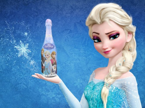 People are not happy with this Frozen branded bottle of 'champagne' for kids