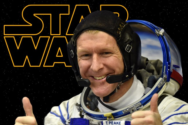 Tim Peake will watch Star Wars on the ISS Getty