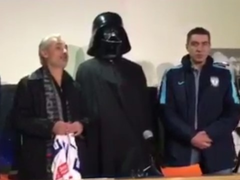 CF Pachucha pay tribute to Star Wars by unveiling new signing Omar Gonzalez in a Darth Vader costume