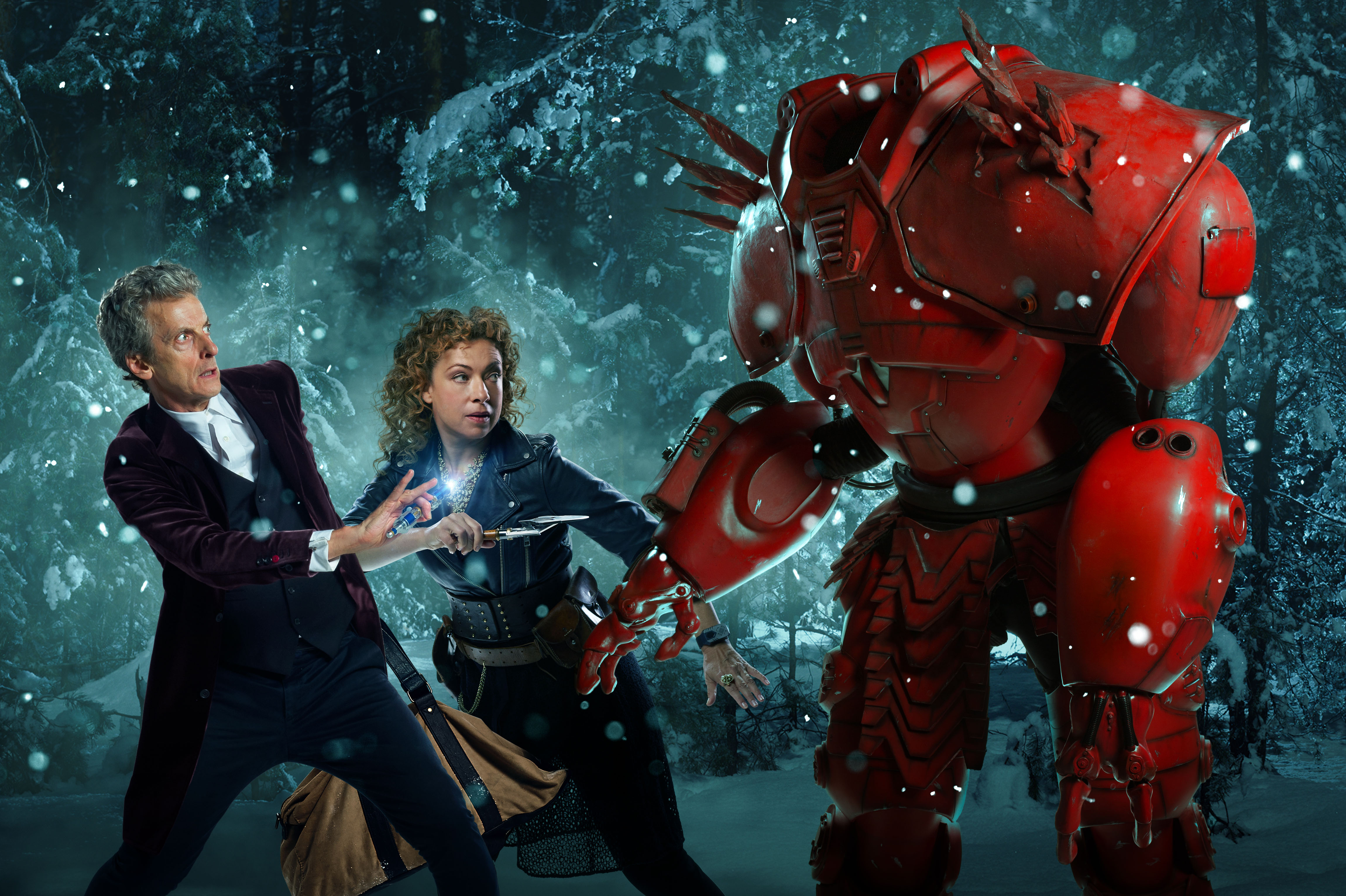 Doctor Who (PETER CAPALDI), River Song (ALEX KINGSTON), Hydroflax in the Christmas special The Husbands of River Song