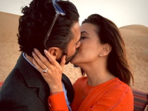 Eva Longoria's boyfriend just put on a ring on it in the Dubai desert