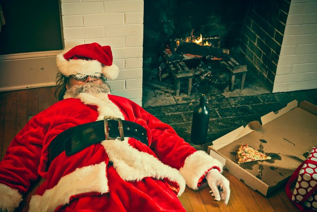 Fear over drink driving means Father Christmas only gets milk these days Bad Santa Drunk And Passed Out