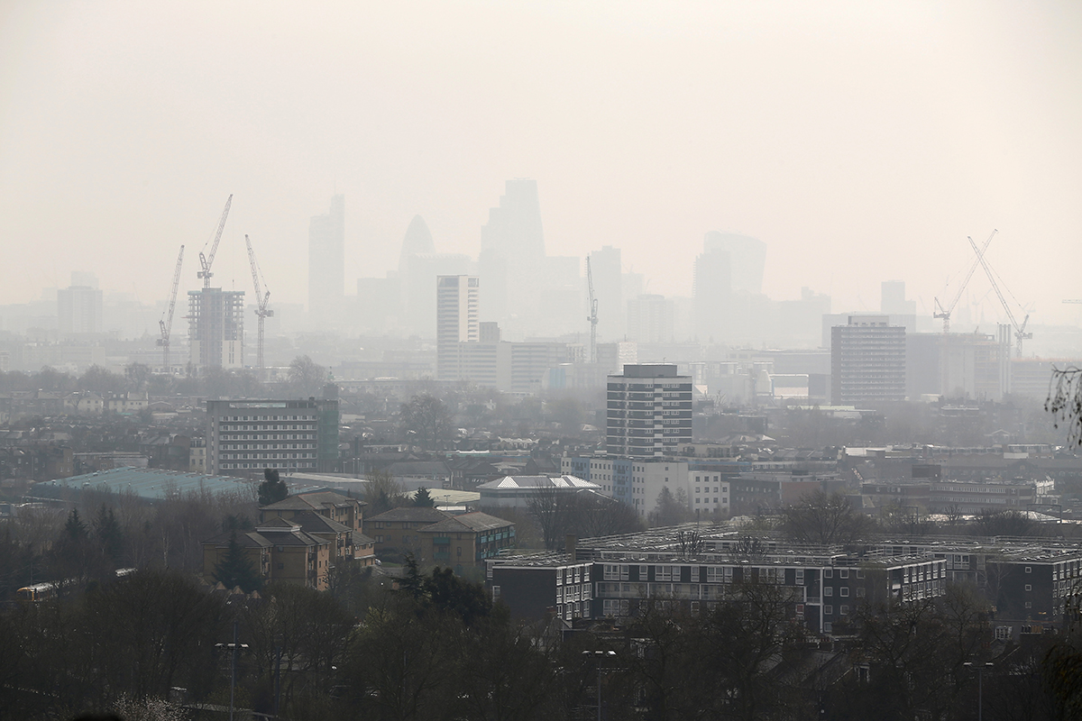 London breaches annual air pollution limits in just a WEEK