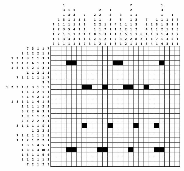 grid shading puzzle GCHQ