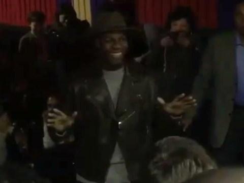 Star Wars' John Boyega casually surprised fans at The Force Awakens screenings in New York