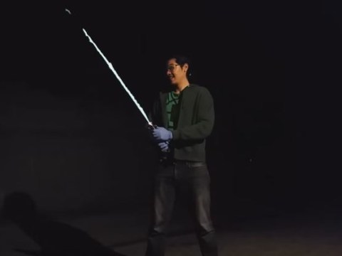 This man has created his own lightsaber and it's incredible