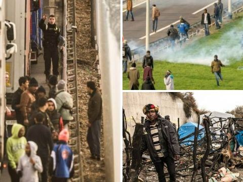 Calais refugees 'armed with iron bars and hammers' attempt to storm the tunnel