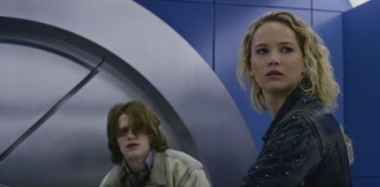 Jennifer Lawrence as Mystique with Lucas Till as Havok (Picture: Fox)