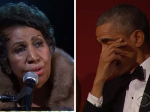 Undisputed Queen Of Soul Aretha Franklin makes President Obama cry with stunning performance