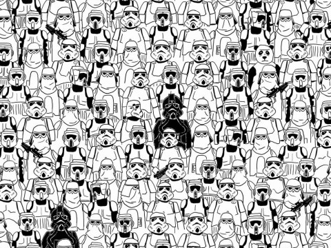 The Star Wars version of Spot The Panda is just as fiendish as you'd expect