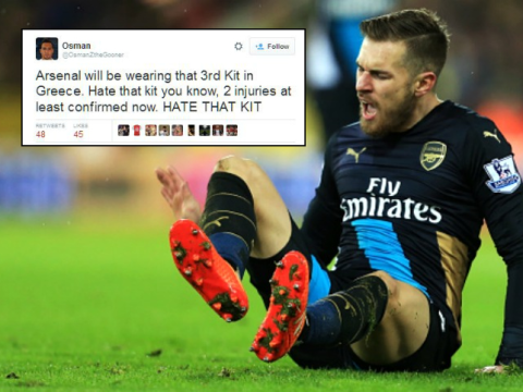 Arsenal fans expect Champions League defeat to Olympiakos due to 'cursed' cup kit