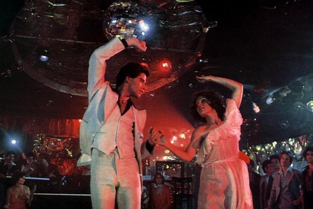 No Merchandising. Editorial Use Only. No Book Cover Usage Mandatory Credit: Photo by Everett/REX/Shutterstock (411137k) John Travolta, Karen Lynn Gorney POSTERS 'Saturday Night Fever' - 1977