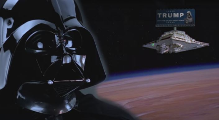 Darth Vader quoting Donald Trump is the only video you need to watch today