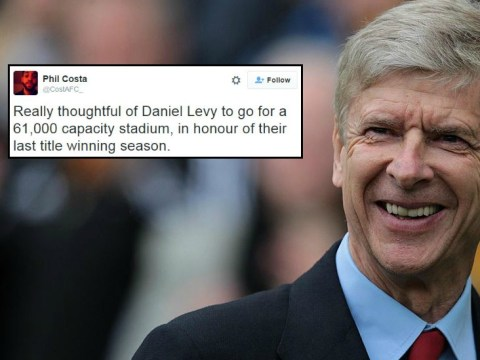Arsenal fan comes up with perfect way to troll Tottenham's new stadium