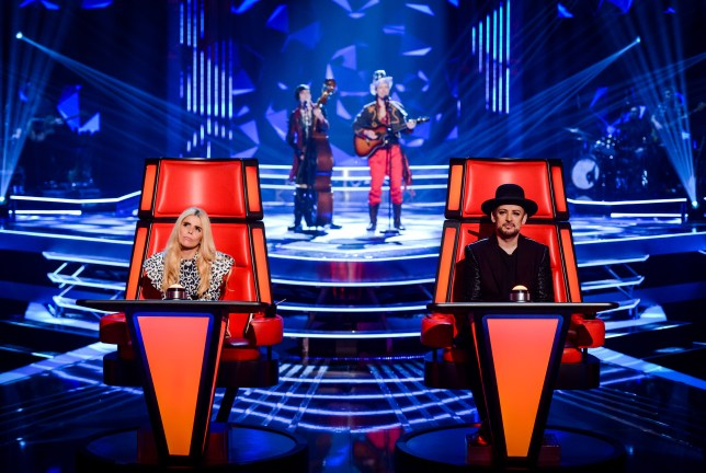WARNING: Embargoed for publication until 00:00:01 on 26/01/2016 - Programme Name: The Voice - TX: 30/01/2016 - Episode: The Voice - Episode 4 (No. 4) - Picture Shows: EPISODE 4 - THE VOICE TX - SATURDAY 30 JANUARY 2016 Paloma Faith, The Dublin City Rounders, Boy George - (C) WALL TO WALL - Photographer: Guy Levy