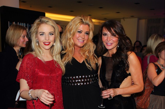 LONDON, ENGLAND - DECEMBER 06: Lydia Bright, Gemma Collins and Lizzie Cundy attend A Night With Nicke Ede at Swarovski Crystallized on December 6, 2011 in London, England. (Photo by Mike Marsland/WireImage)