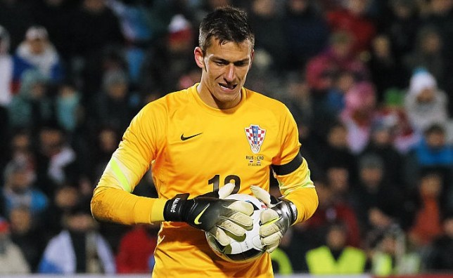 ROSTOV-ON-DON, RUSSIA - NOVEMBER 17: Lovre Kalinic of Croatia in action during international friendly football match between Russia and Croatia at Olymp II stadium on November 17, 2015 in Rostov-on-Don, Russia.(Photo by Epsilon/Getty Images)