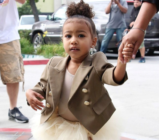 North West is soon to enjoy her own playhouse - that costs £100K (Picture: Splash News and Pictures)