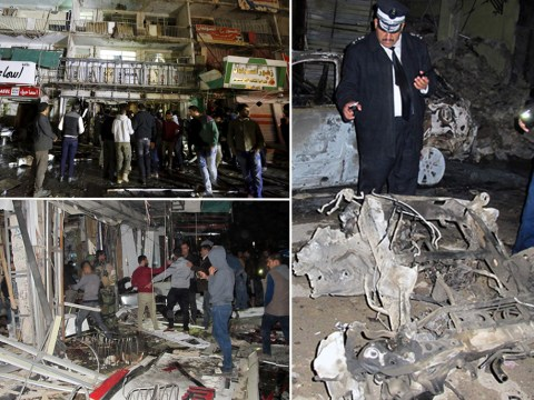 At least 18 dead following car bomb explosion outside Baghdad shopping centre