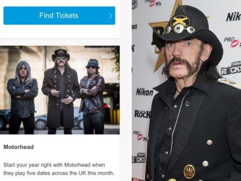 Motorhead fans left fuming after Ticketmaster claims band will play music festival in newsletter