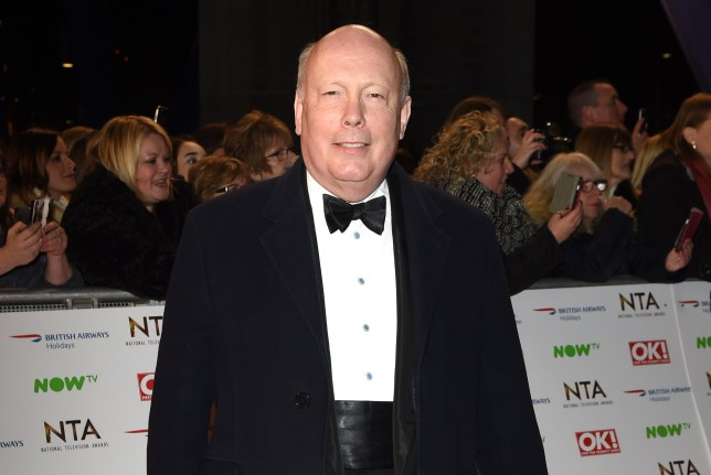 21 January 2016. The 21st National Television Awards at The O2 Arena on January 20, 2016 in London, England. Here, Julian Fellowes Credit: Justin Goff/GoffPhotos.com Ref: KGC-03