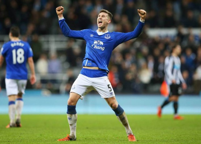 NEWCASTLE UPON TYNE, ENGLAND - DECEMBER 26: John Stones of Everton celebrates victory after the Barclays Premier League match between Newcastle United and Everton at St James' Park on December 26, 2015 in Newcastle upon Tyne, England. (Photo by Ian MacNicol/Getty Images)