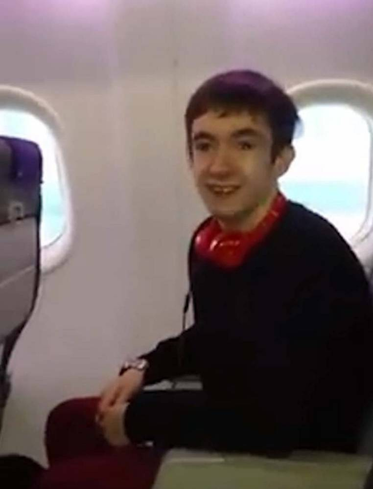 Teenager with Tourette's films himself shouting 'there's a bomb' on plane