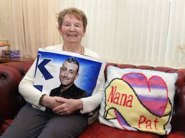 Christopher Maloney's Nana Pat O'Brien at home in Norris Green, Liverpool.