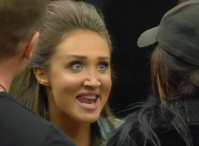Editorial Use Only.. Mandatory Credit: Photo by REX/Shutterstock (5527661as).. Megan McKenna argues with Nancy over a bottle of wine red.. 'Celebrity Big Brother' TV show, Elstree Studios, Hertfordshire, Britain - 7 Jan 2016.. ..