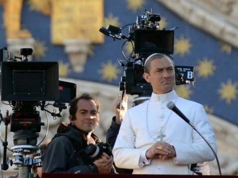 Just Jude Law looking absolutely divine on the set of The Young Pope