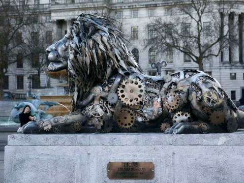 Here's why there's now a fifth lion in Trafalgar Square