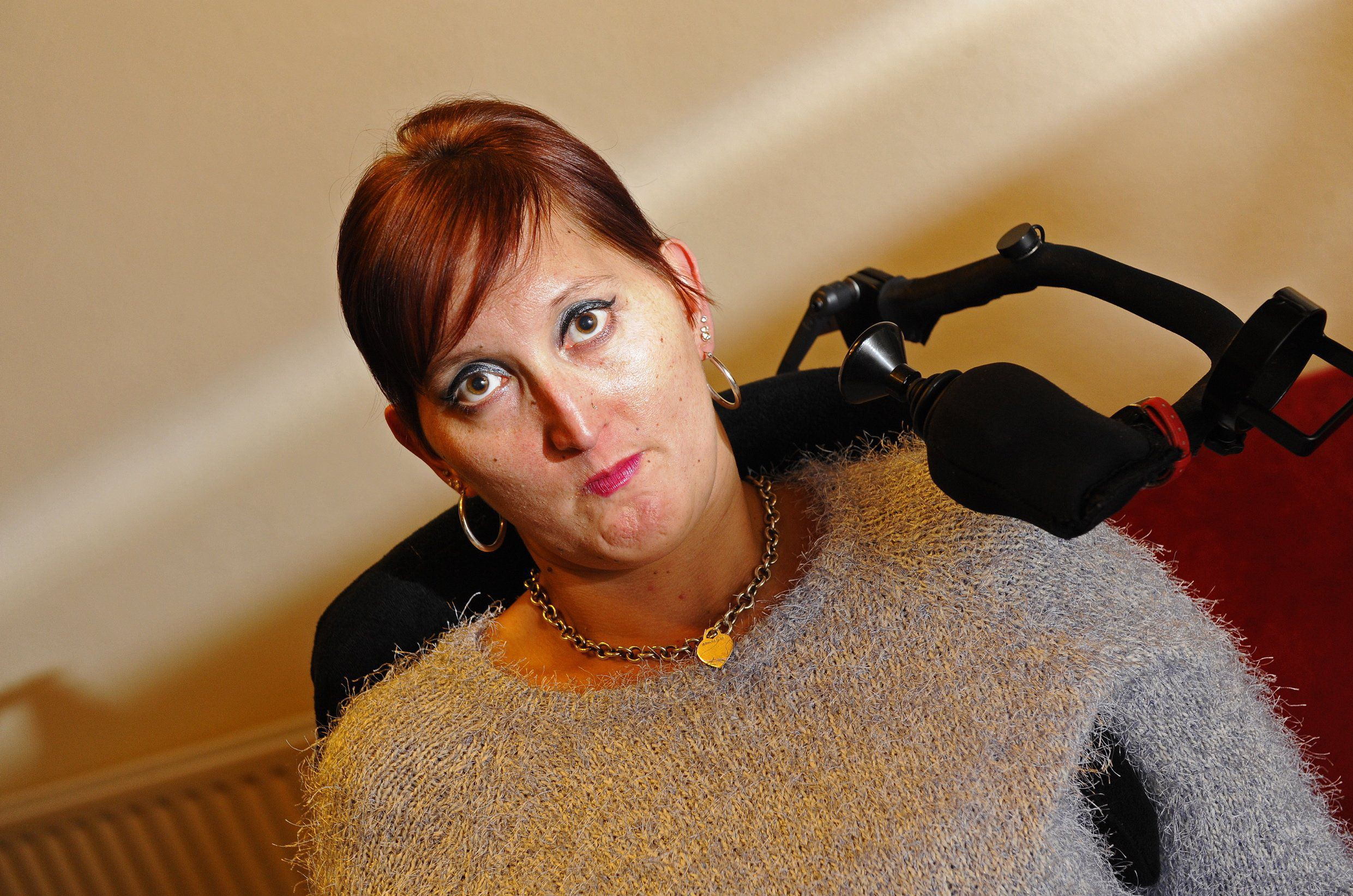 Pictured: Cecilia Turk. A disabled athlete claims she was thrown out of a cinema for being a 'fire hazard'. Cecilia Turk, who suffers from cerebral palsy and uses a wheelchair, had gone to watch 'Heart of the Sea' and says the episode left her feeling 'intimidated and discriminated against'. Half an hour into the film, the 32-year-old said she was asked to leave the new Cineworld in Whiteley, Hants, because she was blocking a fire exit. SEE OUR COPY FOR DETAILS. © Portsmouth News/Solent News & Photo Agency UK +44 (0) 2380 458800
