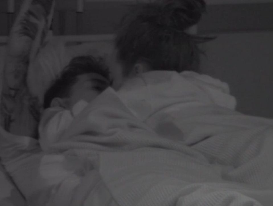 Editorial Use Only Mandatory Credit: Photo by REX/Shutterstock (5574408a) Jeremy McConnell and Stephanie Davis kiss in bed 'Celebrity Big Brother' TV show, Elstree Studios, Hertfordshire, Britain - 27 Jan 2016