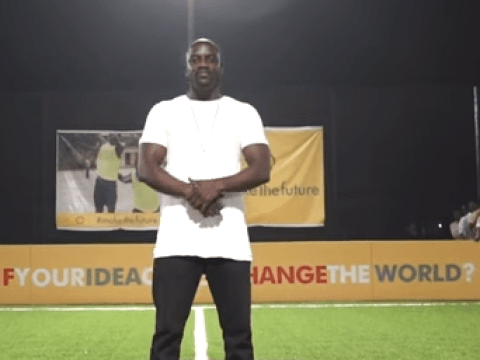 Akon and Shell create Africa's first human and solar powered football pitch