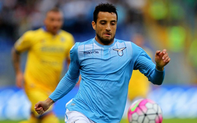 during the Serie A match between SS Lazio and Frosinone Calcio at Stadio Olimpico on October 4, 2015 in Rome, Italy.