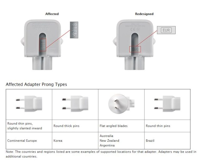 Apple charger recall
