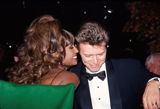 Model Iman and husband, musician David Bowie, circa 1992. (Photo by Time Life Pictures/DMI/The LIFE Picture Collection/Getty Images)
