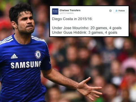 Stat shows Chelsea's Diego Costa is a rejuvenated man under Guus Hiddink since Jose Mourinho's sacking