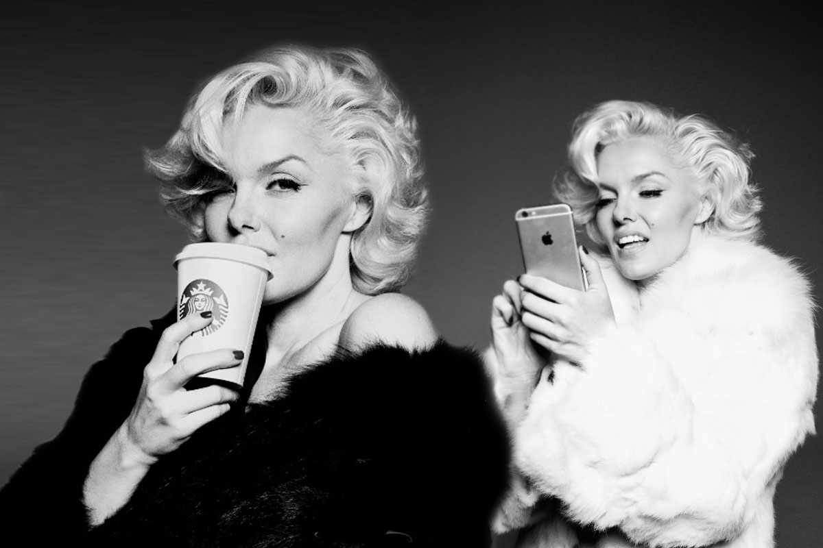 This photographer perfectly nails Marilyn Monroe as a millennial